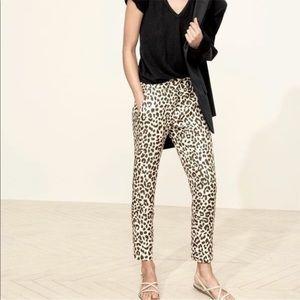 J. Crew Leopard Pants